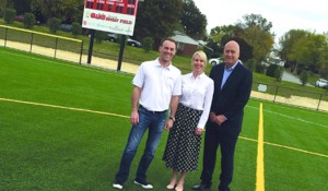 An alumna, Kevin Harvick Foundation and a Boys & Girls Club field