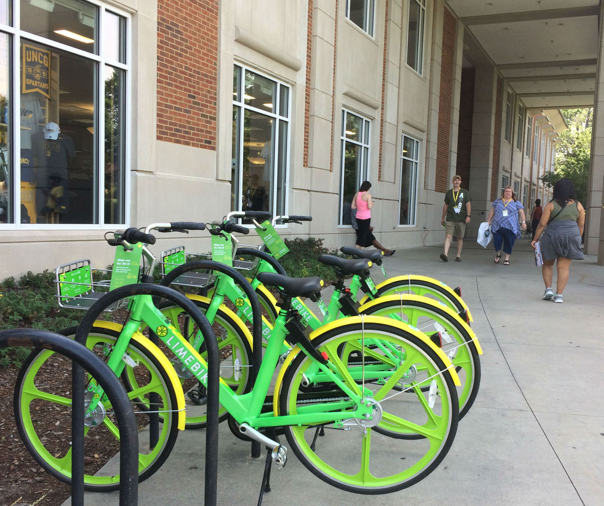 Green machines: New bike share program gets its start at UNCG