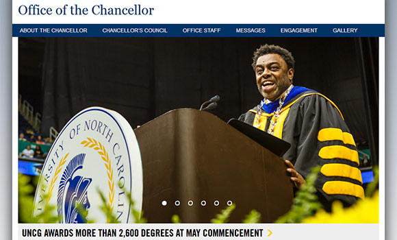 New website offers more ways to engage with Chancellor Gilliam