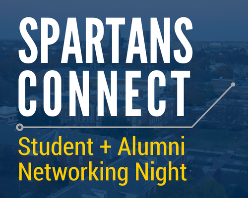 Alumni Association and Career Services Center to host Spartans Connect: Student + Alumni Networking Night