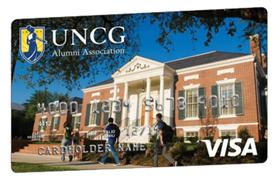 The UNCG Alumni Rewards Visa® Card